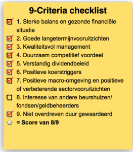 De Crème de la Crème Checklist